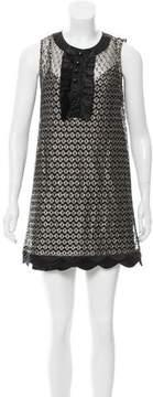 Cynthia Steffe Sleeveless Metallic Mini Dress