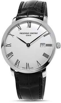 Frederique Constant Slimline Watch with Leather Strap, 40mm