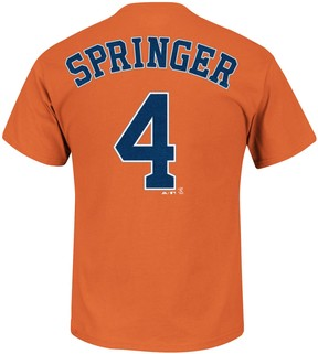 Majestic Men's Houston Astros George Springer Player Name and Number Tee