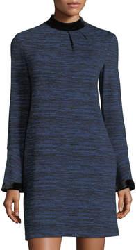 Donna Morgan Velvet-Trimmed Sheath Dress