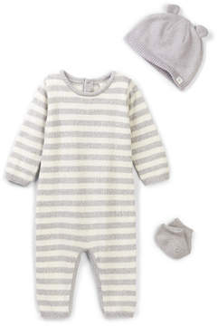 Cuddl Duds Striped Coverall, Hat & Sock Set (Baby Boys)