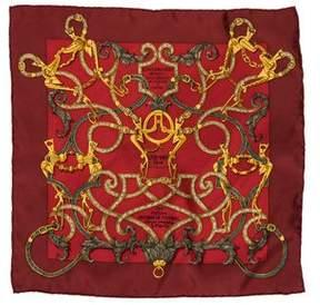 Hermes L'Instruction Du Roy Silk Pocket Square