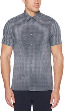 Perry Ellis Big & Tall Mini Checker Box Print Shirt