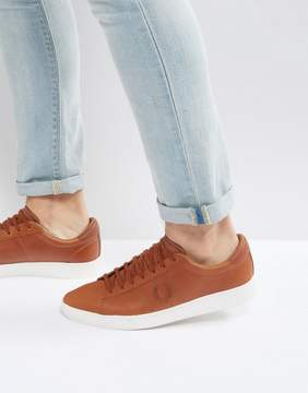 Fred Perry Spencer Wax Leather Sneakers Tan
