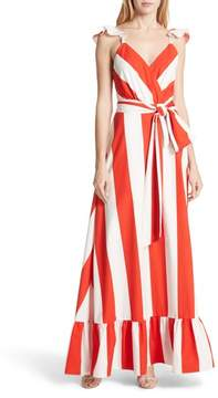 Alice + Olivia Fernanda Stripe Cotton Maxi Dress