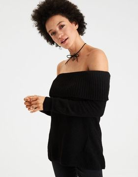 American Eagle Outfitters AE Off-the-Shoulder Foldover Sweater