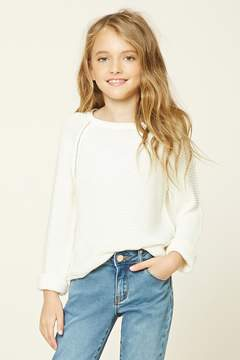 Forever 21 Girls Purl Knit Sweater (Kids)