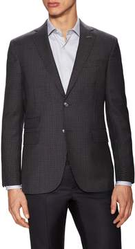 Michael Bastian Gray Label Men's Wool Checkered Notch Lapel Sportcoat