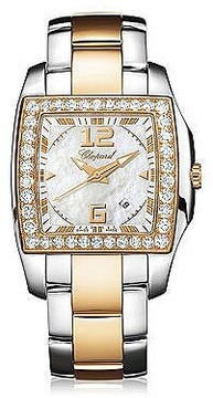 Chopard Two O Ten Mother of Pearl Dial Diamond Two Tone Ladies Watch