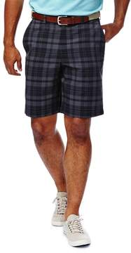 Haggar Men's Cool 18® Flat-Front Plaid Shorts
