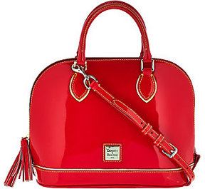 Dooney & Bourke As Is Highland Holiday Patent Zip Zip Satchel - ONE COLOR - STYLE