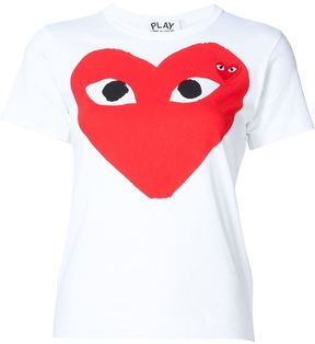 Comme des Garcons heart print and application T-shirt