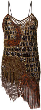 Balmain bead-embellished tank top