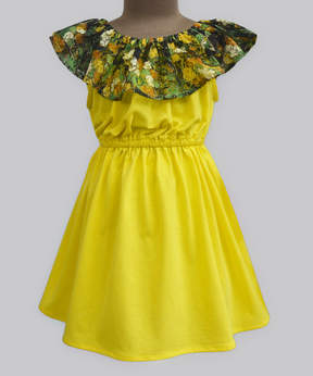 Butter Shoes Yellow & Floral Celia Dress - Infant, Toddler & Girls