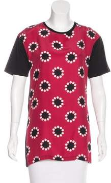 Matthew Williamson Silk-Accented Printed Top