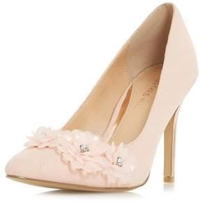 Head Over Heels *Head Over Heels by Dune Nude Ayria High Heel Court Shoes