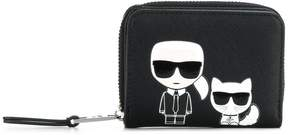 Karl Lagerfeld K/Ikonik small zip wallet