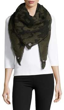 Steve Madden Camo and Stars Scarf