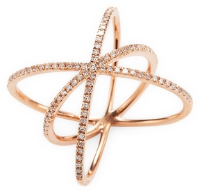 Ef Collection Women's Diamond Cage Ring