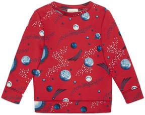 Children's space snake print sweatshirt