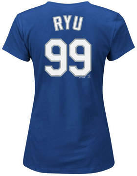 Majestic Women's Hyun-Jin Ryu Los Angeles Dodgers T-Shirt