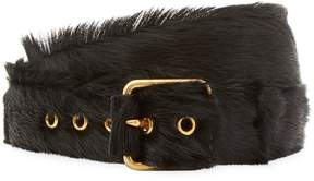 Prada Men's 5-Notch Fur Belt