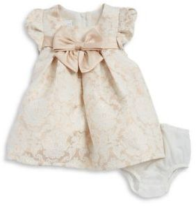 Iris & Ivy Baby Girl's Two-Piece Metallic Floral Dress and Bloomers Set