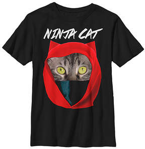 Fifth Sun Black 'Ninja Cat' Tee - Youth
