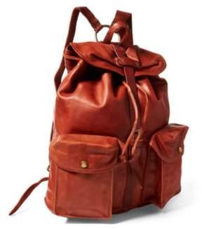 Ralph Lauren Leather Rucksack Tan One Size