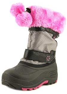 Kamik Iceberry Youth Round Toe Synthetic Multi Color Winter Boot.