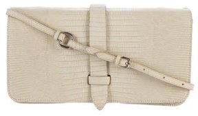 Calvin Klein Collection Embossed Leather Clutch
