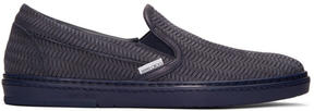 Jimmy Choo Navy Grove Slip-On Sneakers