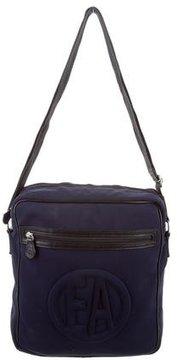 Emporio Armani Leather-Trimmed Messenger Bag