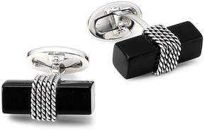 Jan Leslie Men's Onyx & Sterling Silver Brick Cufflinks