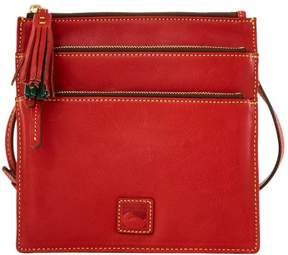 Dooney & Bourke Florentine North South Triple Zip Shoulder Bag - RED - STYLE