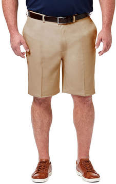 Haggar Cool 18 Pro Classic Fit Solid FF Shorts - Big and Tall