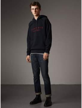 Burberry Embroidered Hooded Sweatshirt