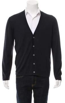 Balenciaga Woven Button-Up Cardigan