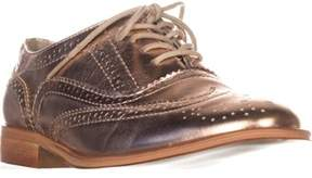 Wanted Babe Lace Up Oxfords, Rose Gold.