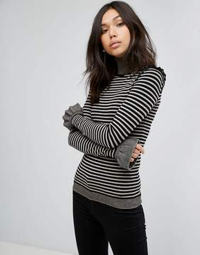 BOSS ORANGE Stripe Frill Knit
