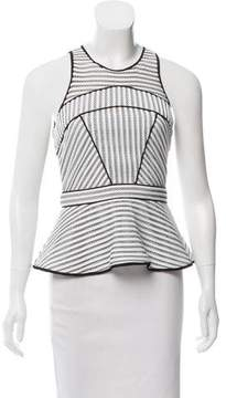 Zac Posen Mesh-Trimmed Sleeveless Top w/ Tags