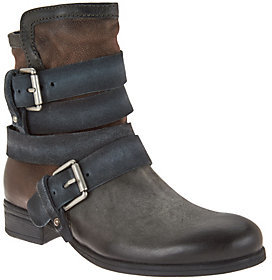 Miz Mooz As Is Leather Mid-Calf Boots with Buckle Detail - Slater