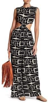 Clayton Emily Side Cutout Print Dress