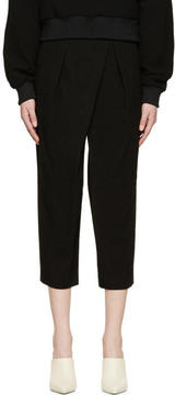 Chloé Black Asymmetrical Textured Trousers