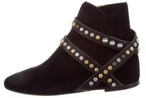 Etoile Isabel Marant Embellished Suede Ankle Boots