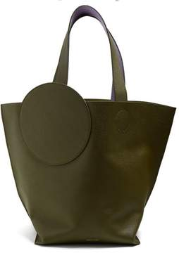 Roksanda Eider Pebbled Leather Tote - Womens - Green Multi