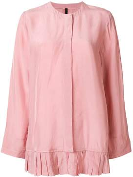 Sara Lanzi pleated hem long-sleeve blouse