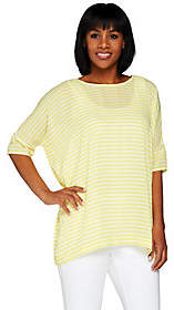 C. Wonder As Is Striped Chiffon Top with Hi-Low Hem