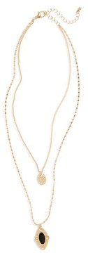 BP Women's Layered Medallion Necklace