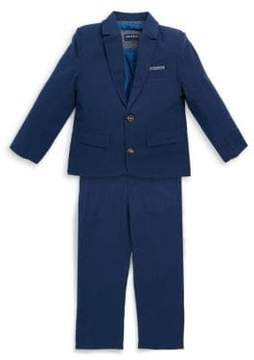 Andy & Evan Little Boy's Two-Piece Textured Cotton Suit Set